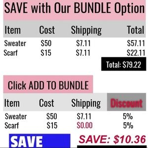 PAY SHIPPING ON 1 ITEM AND REST SHIP FREE!!